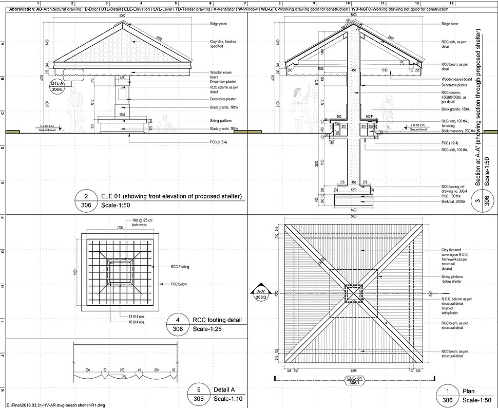 Construction drawing autocad
