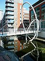 Contemporary footbridge over the canal, Birmingham - geograph.org.uk - 991611.jpg