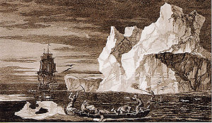 Second voyage of James Cook - Cook in Antarctica drawn by William Hodges