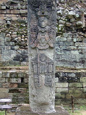 K'ak' Chan Yopaat - Stela P in Copan depicts K'ak' Chan Yopaat