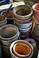 Copped Hall kitchen walled garden, plant pot stack, Essex, England.jpg
