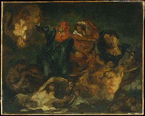 Copy after Delacroix's \