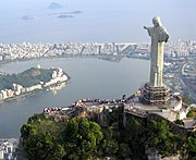 Christ the Redeemer with Corcovado in background.