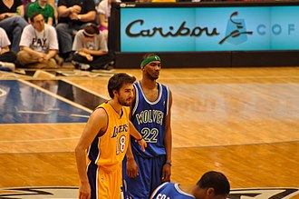 Corey Brewer - Brewer (right) with the Timberwolves in April 2010