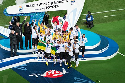 Corinthians won their second world title after defeating Chelsea 1-0 in the final, capping off a year which saw them undefeated in international matches with just four goals conceded. Corinthians Club World Cup 2012.jpg