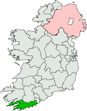 Cork South-West (Dáil Éireann constituency) - Image: Cork South West (Dáil Éireann constituency)