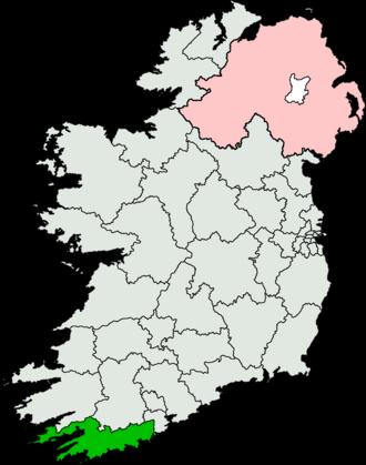 Cork South-West (Dáil Éireann constituency) - Image: Cork South West (Dáil Éireann constituency)
