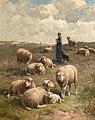 Cornelis Van Leemputten Moutons dans les dunes.jpg