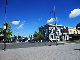 Hamilton, New Zealand - Corner of Hood Street.