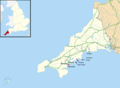 Cornwall UK location map placenames.png