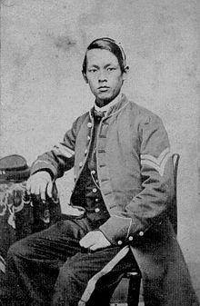 Joseph Pierce, soldato kiu deĵoris en Norda dum Usona Enlanda Milito.