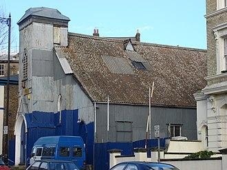 Corrugated galvanised iron - A corrugated iron church (or tin tabernacle) in Kilburn, London