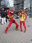 Cosplayers of EVA Unit 02 and Asuka Langley Soryu 20121229.jpg