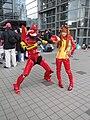 Cosplayers of EVA Unit 02 and Asuka Langley Soryu 20121229.jpg