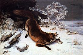 Courbet Fox in the snow.jpg