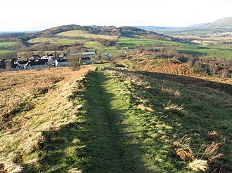 Croy, North Lanarkshire - Image: Course of the Antonine Wall at Croy Hill geograph.org.uk 308697