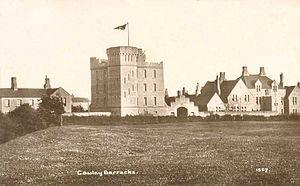 Cowley Barracks - Cowley Barracks showing the original keep