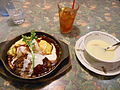 Creamy egg omurice, demi-glace sauce.jpg