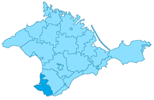 Map of Sevastopol in Crimea, Russia.