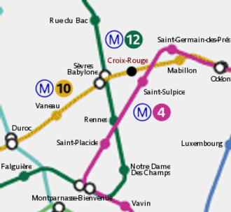 Croix-Rouge - Localisation