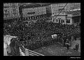 Crowds in Trieste, Italy watch as CASTEL VERDE departs transporting migrants to Australia, 1953-1954 (8425188395).jpg
