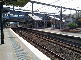 Croydon railway station, Sydney - Image: Croydon railway station 20180415 07
