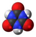 Cyanuric acid (trione) 3D spacefill.png