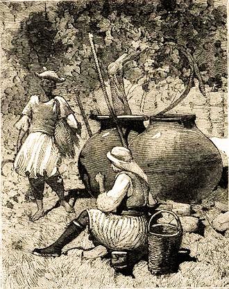 Cypriot wine - Wine jars: Vineyard Saint Hilarion Castle 1878