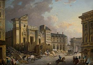 Pierre-Antoine Demachy - Demolition of the Church of Saint-Barthélemy (1791)
