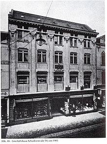 Mendelssohn-Haus Schadowstraße 30 inDüsseldorf, Foto um 1905 (Quelle: Wikimedia)