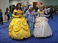 D23 Expo 2011 - Belle, Fairy Godmother, and Cinderella (6075809646).jpg