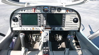 Diamond DA42 - Instrument panel of a DA42 Twin Star, note the installed Garmin G1000 glass cockpit present