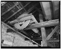 DETAIL OF WINDLASS, NORTH STOREHOUSE - Benicia Arsenal, Storehouses and Engine House, Benicia, Solano County, CA HABS CAL,48-BENI,4T-6.tif