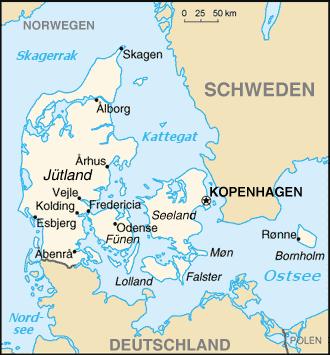 Bản đồ Đan Mạch