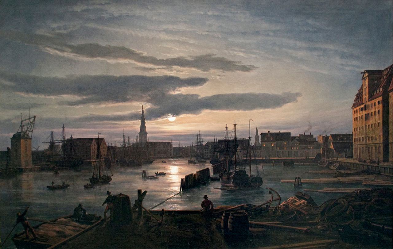 File:Dahl - Copenhagen Harbour by Moonlight.jpg - Wikimedia Commons