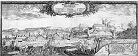 Oblężenie Grudziądza przez Szwedów 4 stycznia 1656 r. Po prawej zamek
