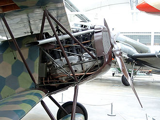 Mercedes D.III - Mercedes D.IIIa mounted in a Fokker D.VII