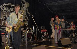 Trowbridge Village Pump Festival - Dana Gillespie and her London Blues Band appearing at the 2006 Pump festival