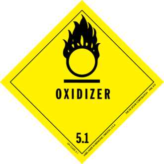 Oxidizing agent - Dangerous goods label for oxidizing agents