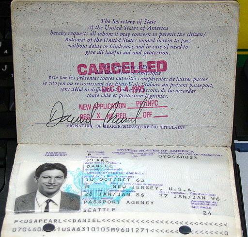 Daniel Pearl Passport
