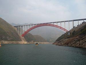 G42 Shanghai–Chengdu Expressway - The expressway crosses the spectacular Daning River Bridge in Chongqing