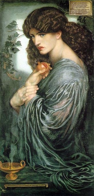Jane Morris - Jane Morris painted by Dante Gabriel Rossetti as Proserpine (1874)