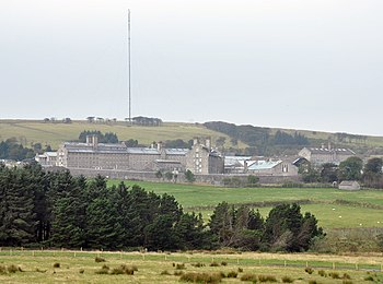 Dartmoor Prison in Princetown with North Hessa...