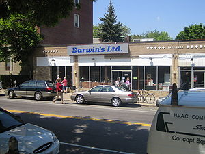 The exterior of Darwin's, Ltd.