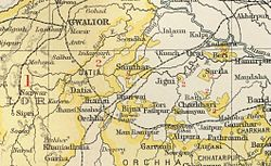 Location of Datia