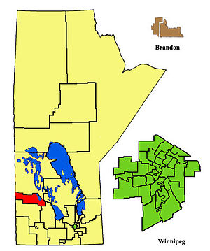 Dauphin (provincial electoral district) - Image: Dauphin ED2011
