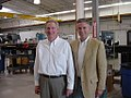 David R. Hall and Governor Jon Huntsman at IntelliServ in Utah in 2005.jpg