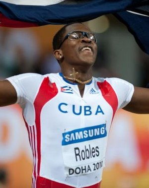 Athletics at the 2006 Central American and Caribbean Games - Cuban hurdler Dayron Robles broke a games record to win his gold medal.