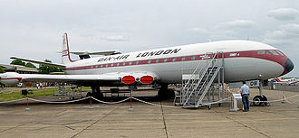 Regional jet - de Havilland Comet at the Imperial War Museum Duxford.