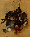 Dead Cock Hanging from a Nail attributed to Melchior d'Hondecoeter Mauritshuis 968.jpg